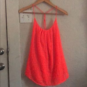 Lucky Brand Coral Tank Top
